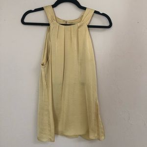 Violet and Claire yellow silky top